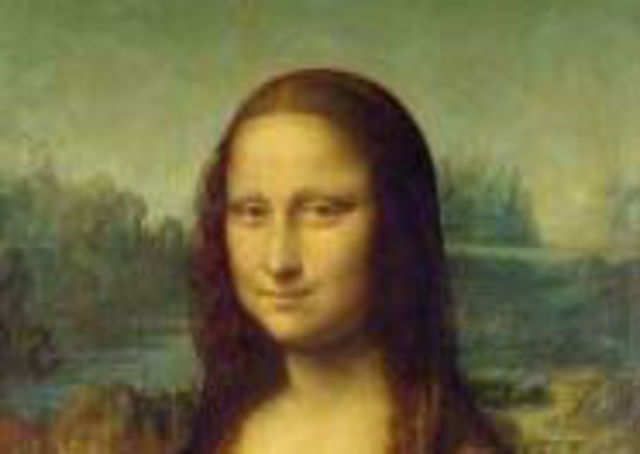 Scientists have created a mini version of the Mona Lisa on the world's smallest canvas - a surface one-third the width of a human hair.