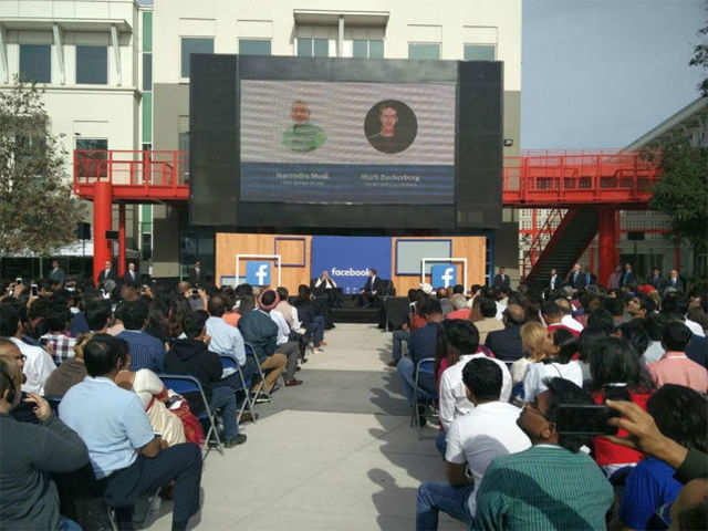 I-Ways are as important as highways, PM Modi said during a townhall at the FB headquarters.