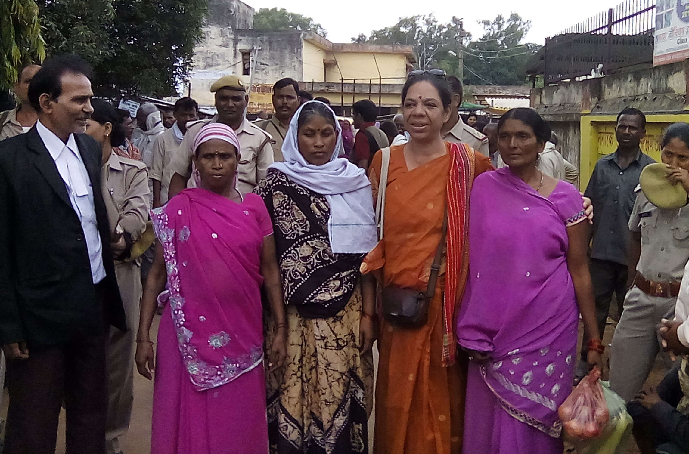 Threat to the State? Roma, Sukalo and Rajkumari being taken for court hearing in police custody.