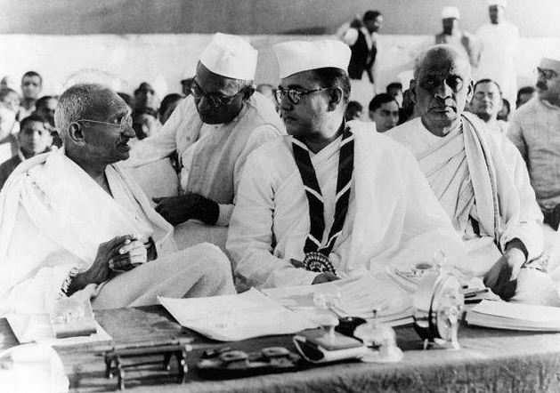Netaji Subhas Chandra Bose with Mahatma Gandhi in February 1938