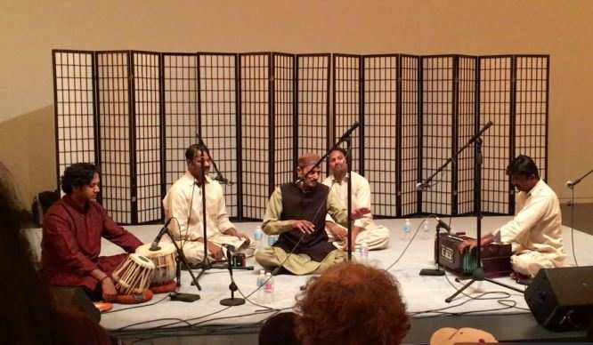Nitin Mitta and Naseeruddin Saami with the Saami brothers at Peabody Essex Museum