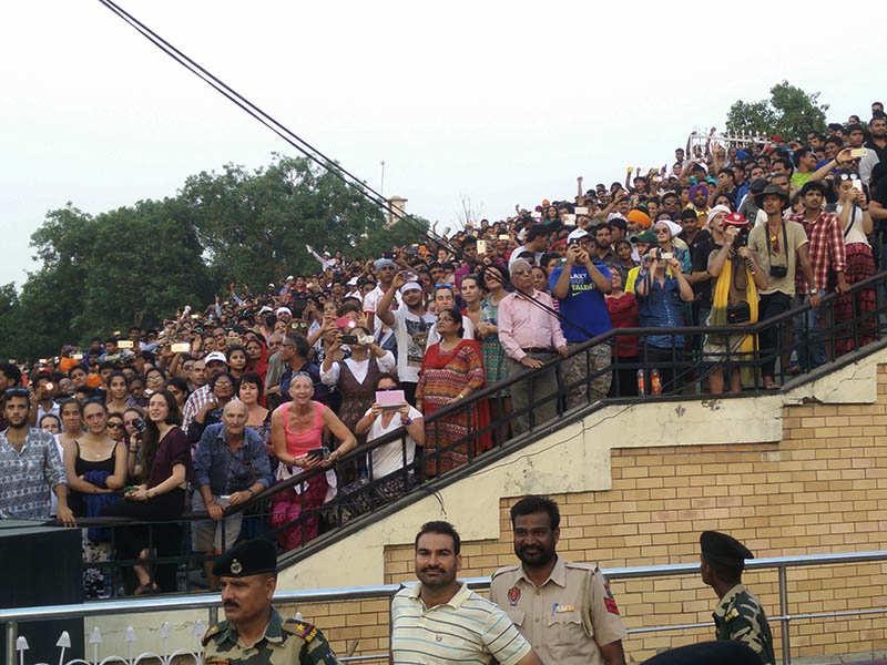 Retreat blog - Enthusiastic crowd on their feet at Attari