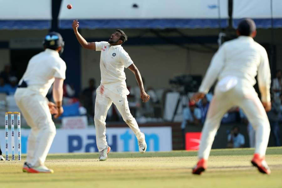 R Ashwin took the last wicket to fall, India v New Zealand, 3rd Test, Indore, 4th day, October 11, 2016 ©BCCI