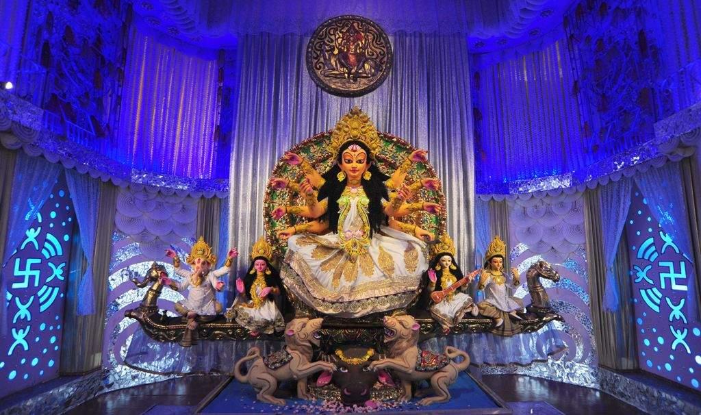 33 Pally Beleghata Puja. Pic: Subhrajit Chandra