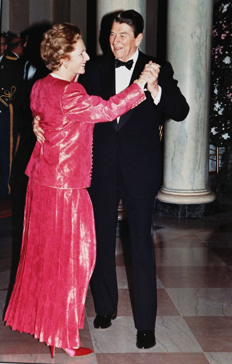 Dancing heads: Both Thatcher and Reagan were free market proponents