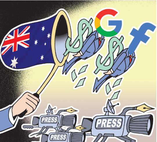 Online advertising revenue can help pay for journalism.  Australia tells Google, Facebook to share