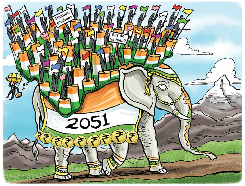2051: Richer, fractured – A light-hearted look at what India may turn out to be 30 years from now