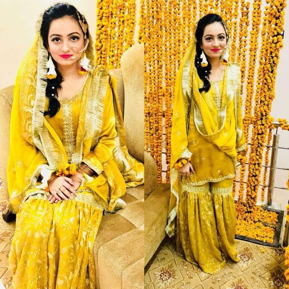 Gharara Dress for Haldi Ceremony