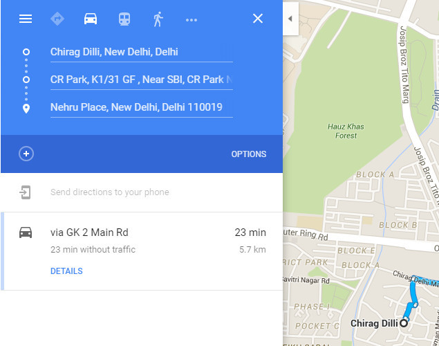 How To Add Multiple Destinations On Google Maps For Android - Google maps multiple stops