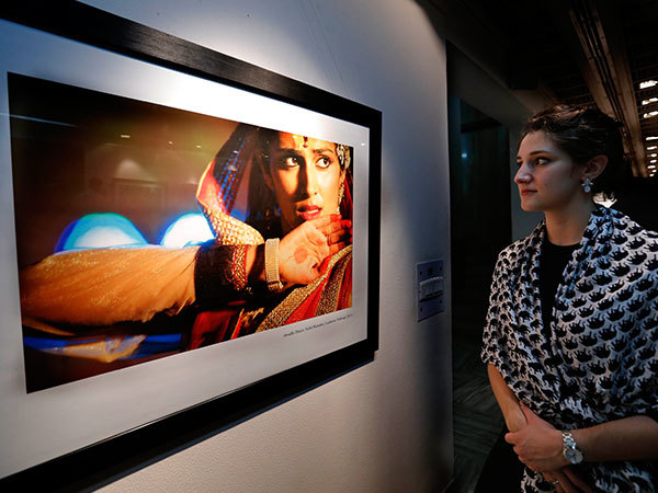 A picture clicked by Jonathan Kessler on display at the event (BCCL)