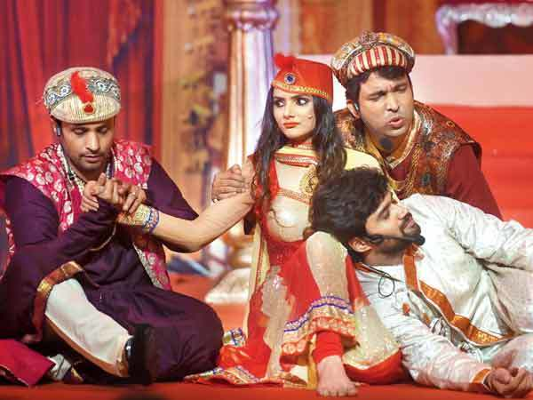 Rajiv Thakur, Sejal Sharma, Chandan Prabhakar and Balraj Syal dressed up as Mughal-E-Azam characters to get out of paying rent for a year (BCCL)