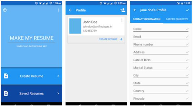 Comparison 5 Resume Builder Apps For Android Apps News Gadgets Now