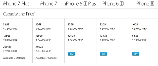 Apple Launched IPhone 6s And Plus In India October Last Year The IPhone6s 16GB At A Price Of Rs 62000 While