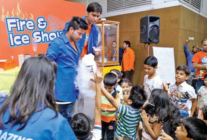 There were other experiments that were demonstrated to the kids (BCCL)