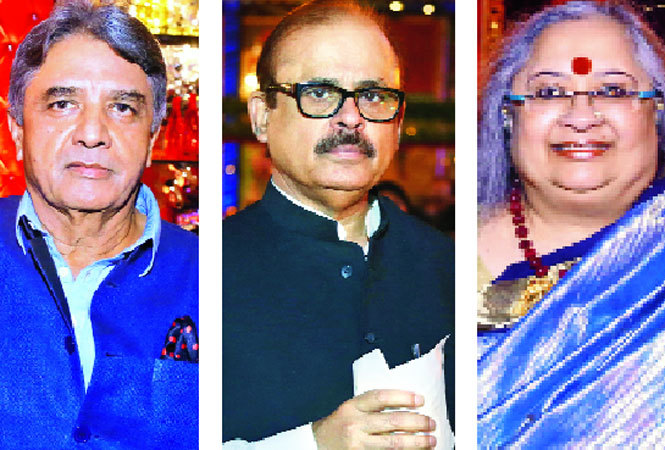 (L-R) VK Duggal, Tariq Anwar, NCP general secretary and Alka Raghuvanshi (BCCL)