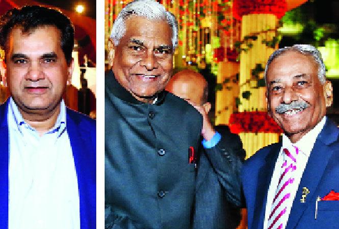 (L-R) Amitabh Kant, K Padmanabhaiah, former home secretary with MJ Rehman (BCCL)