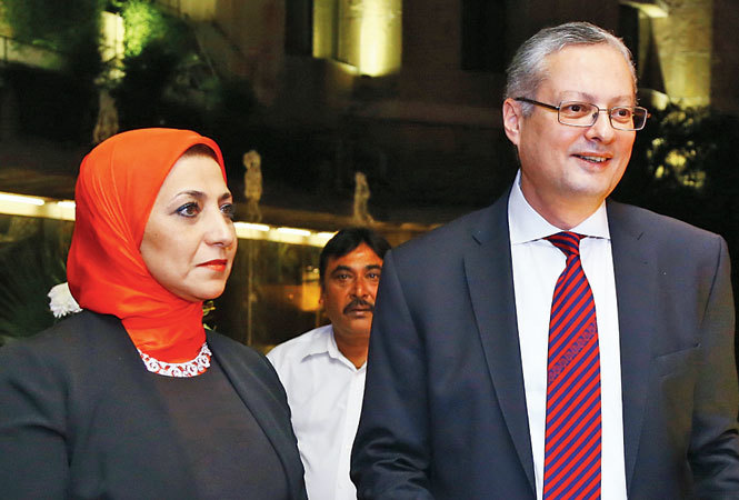 Egyptian ambassador Hatem Tageldin with his wife (BCCL)