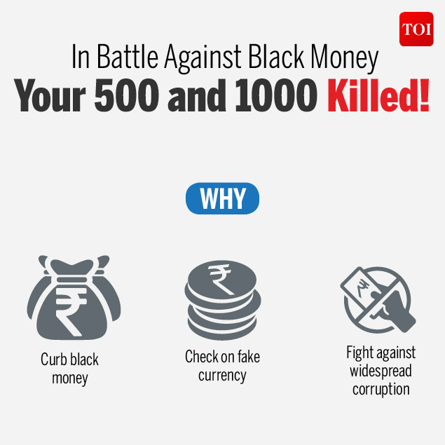 In battle against black money 500 and 1000 killed!-Infographic-TOI2