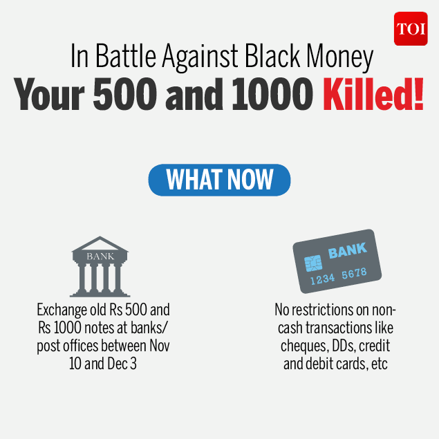In battle against black money 500 and 1000 killed!-Infographic-TOI3