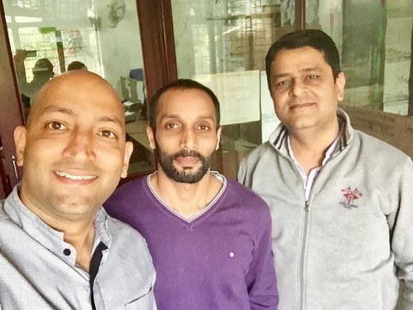 L-R DeepBajaj Founder, PeeBuddy, Mohit Bajaj Co-Founder, PeeBuddy, Deepak Thareja Co-Founder, PeeBuddy