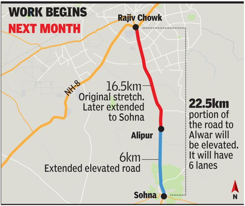 May launch of Sohna elevated road project