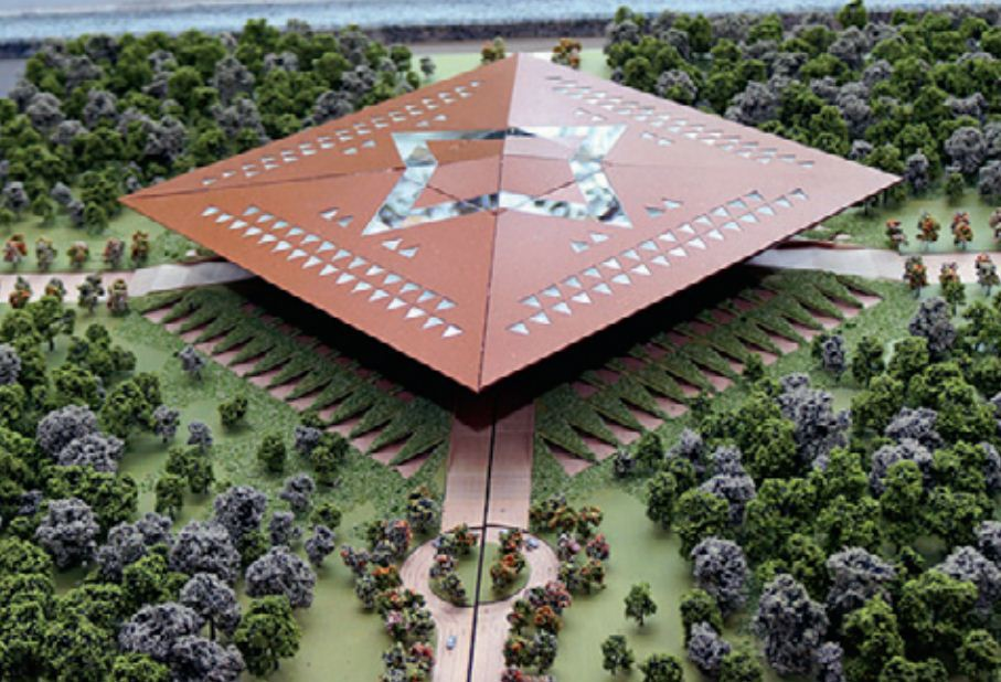 Permanent structures of andhra pradesh assembly amaravati blueprint briefing the media about the outcome municipal administration and urban development minister p narayana said the assembly building which will also malvernweather Image collections