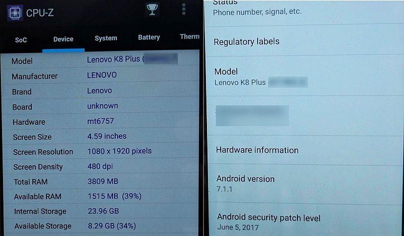 Lenovo testing 'K8 Plus' smartphone in India - Latest News