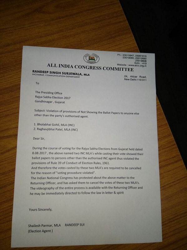 Letter from Congress to EC