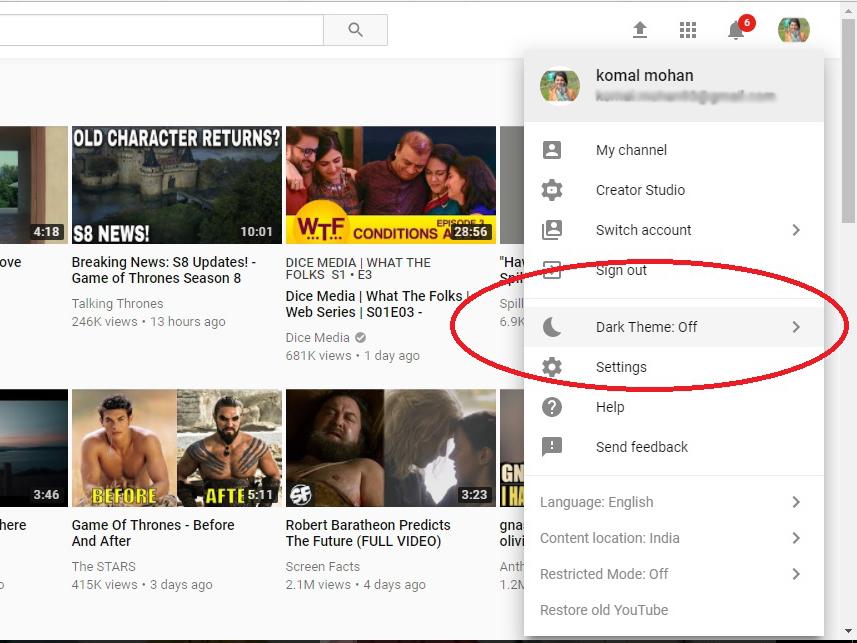 YouTube Dark Theme: How to change YouTube's white background