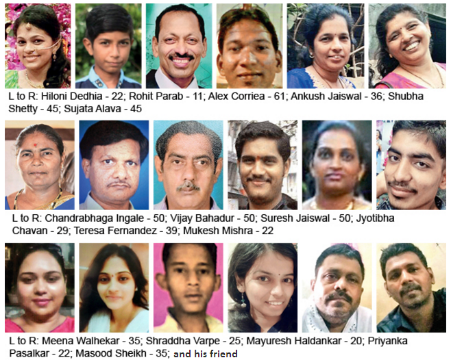 The 22 people who lost their lives in Mumbai stampede