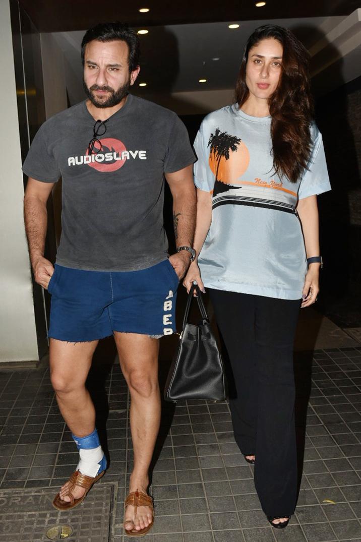 Saif Ali Khan with wife Kareena Kapoor at birthday celebrations of Soha Ali Khan. Pic Source: Yogen Shah