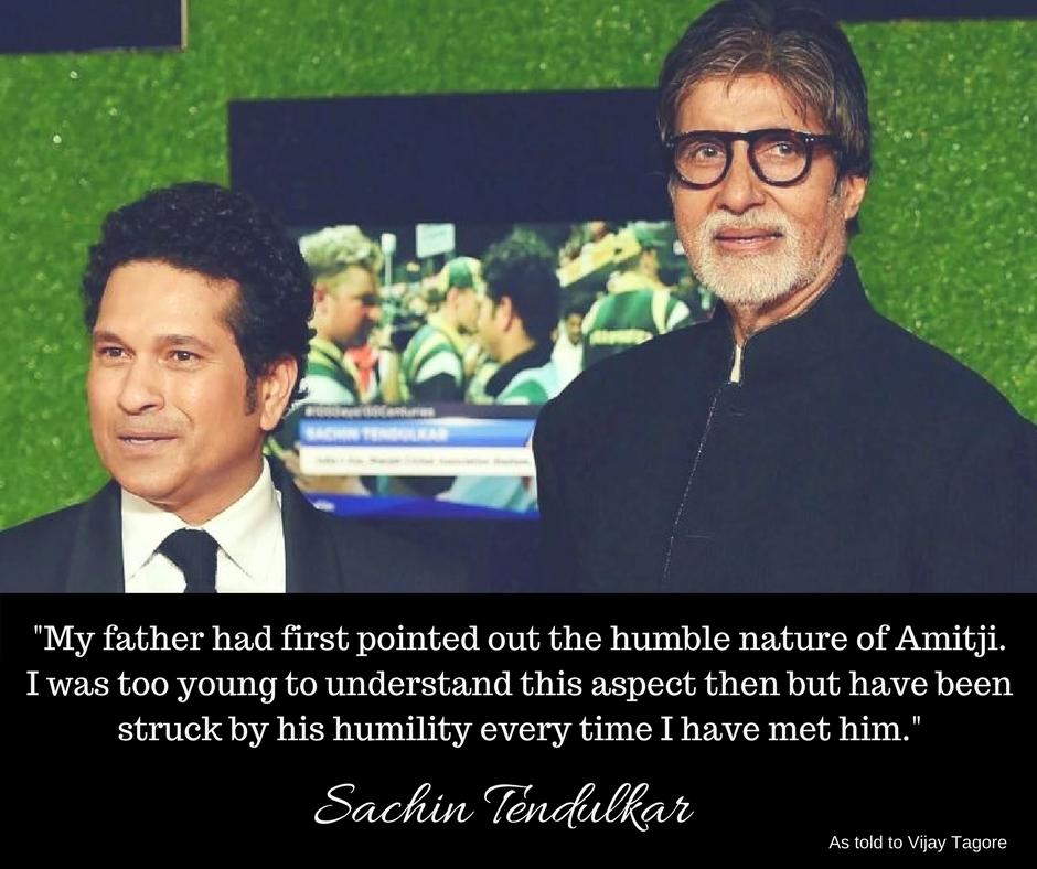 Sachin Tendulkar wishes Amitabh Bachchan