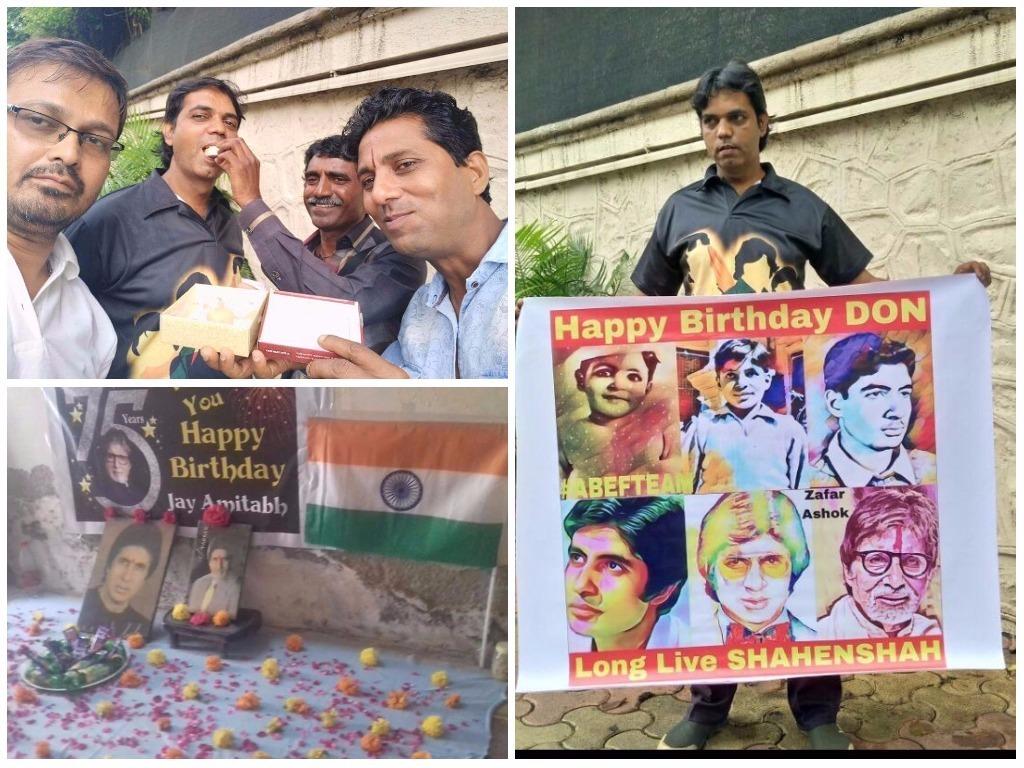 Fans outside Jalsa in Juhu