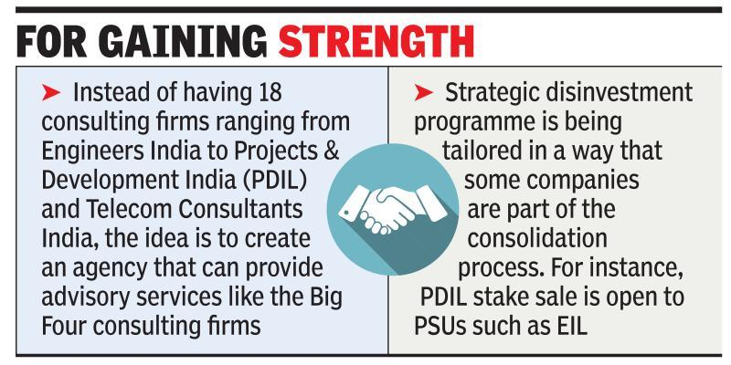 Govt looks to expand scope of consolidation in PSUs