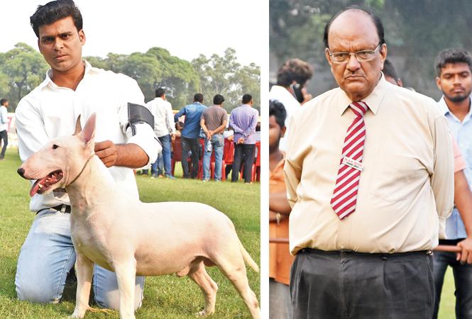 Asad Ahmad with Bull Terrier – Heckter (R) KK Trivedi (BCCL/ Farhan Ahmad Siddiqui)