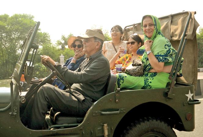 MA Khan driving his vintage jeep (BCCL/ Aditya Yadav)