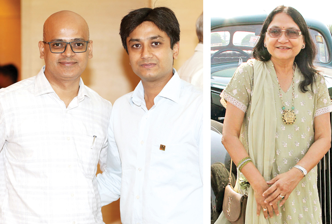 Alok Shukla and Anuj (R) Anita Narain (BCCL/ Aditya Yadav)