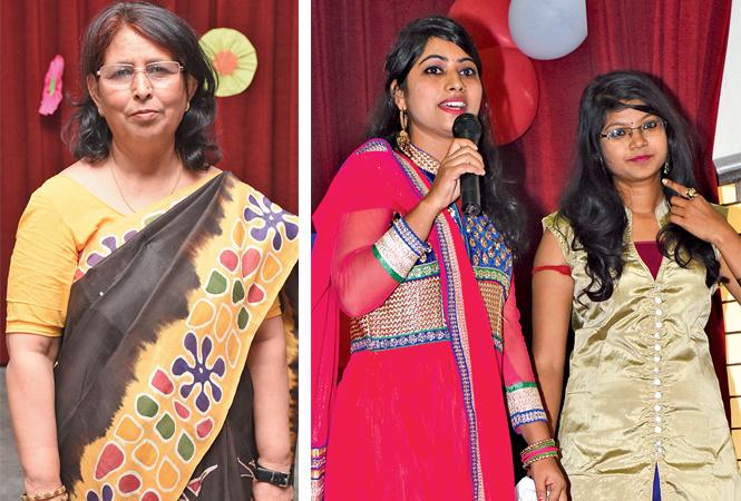 Dr Aisha Abbas (R) Ankita Dubey and Murdika Verma (BCCL/ Vishnu Jaiswal)