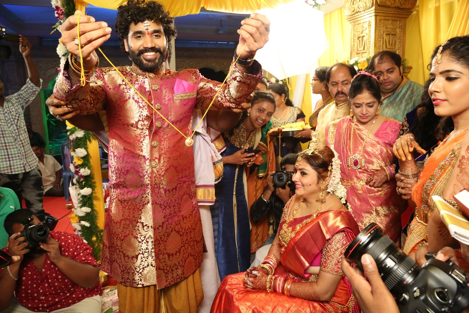 Veerandra and Namitha Marriage Pictures