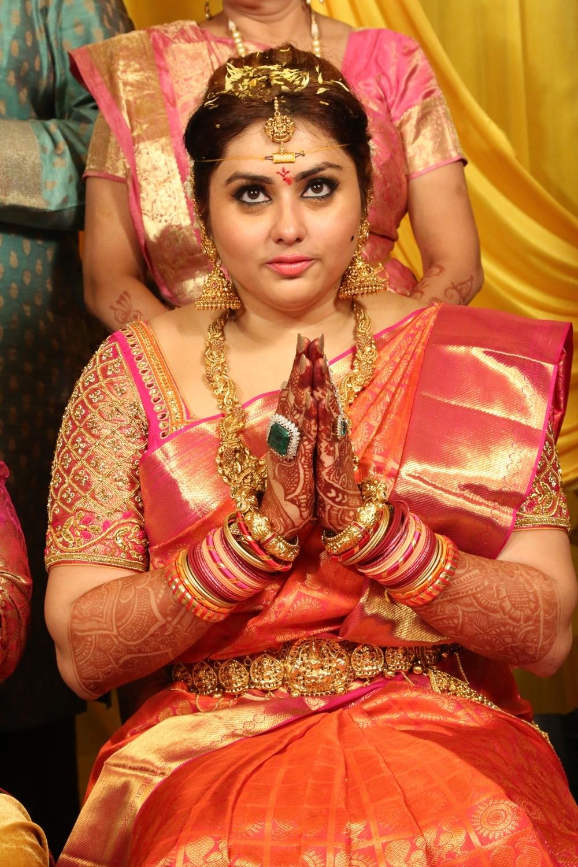 Veerandra and Namitha Wedding Photos