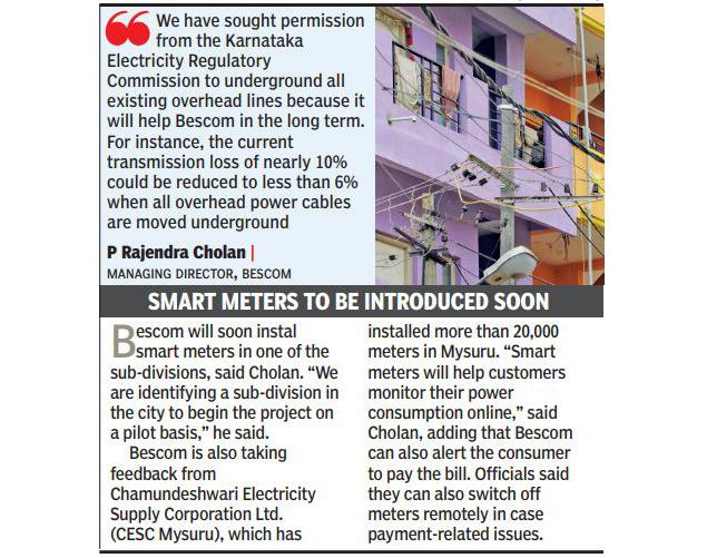Bengaluru\'s power cables to go underground in 5 years | Bengaluru ...