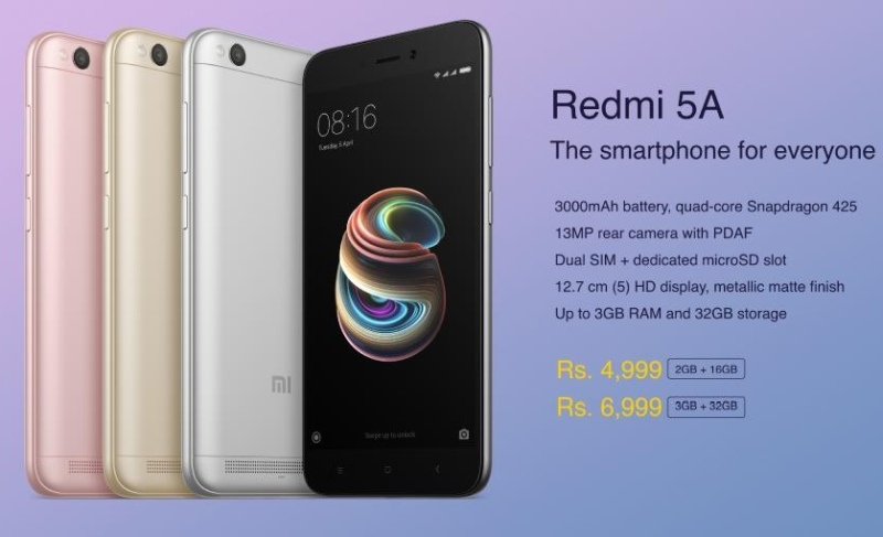 b86907a640 The company has made some India-based customisations in the Redmi 5A. The  smartphone comes with a 2+1 slot, meaning that you will be able to work  with two ...