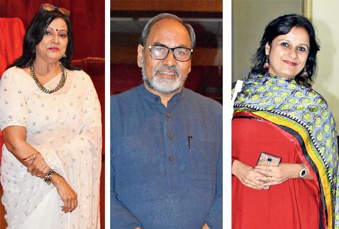 (L) Beena Singh (C) Gopal Sinha (R) Rachita Vyas (BCCL/  Farhan Ahmad Siddiqui)