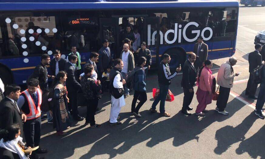Rahul Gandhi at Delhi airport