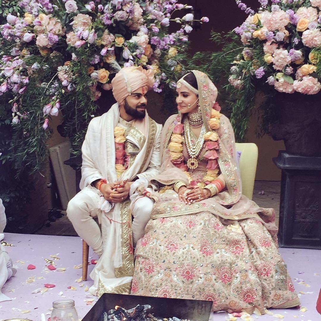 Virat Kohli and Anushka Sharma Wedding Pictures HD