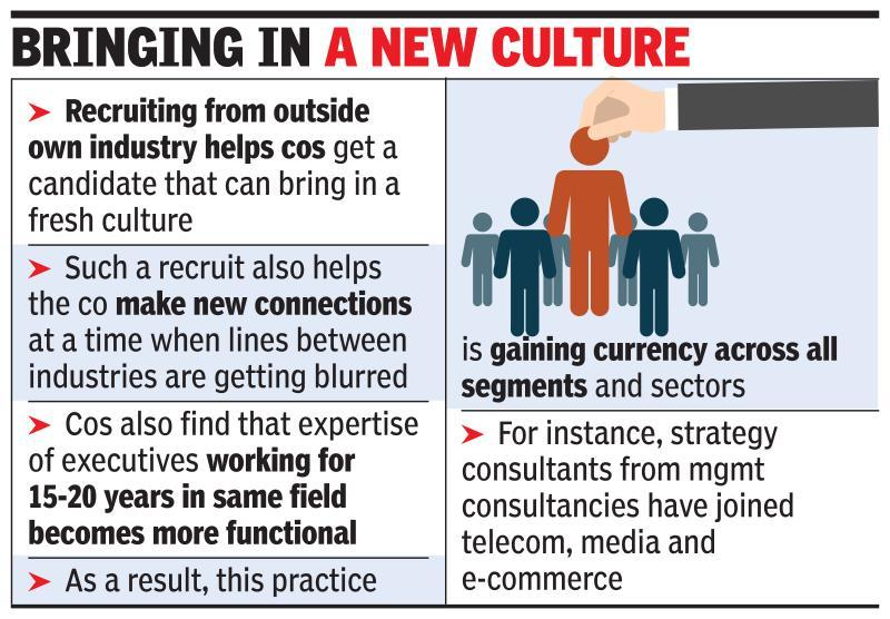 India Inc looks at talent from outside core biz