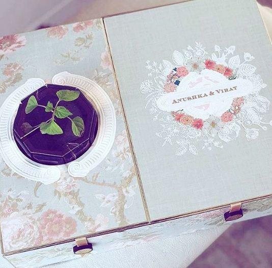 Jacqueline Fernandez shares reception invitation of Anushka and Virat. Photo by: @jacquelinef143/Instagram