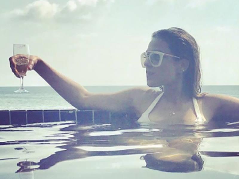 Nia Sharma Swimming Pool Photos