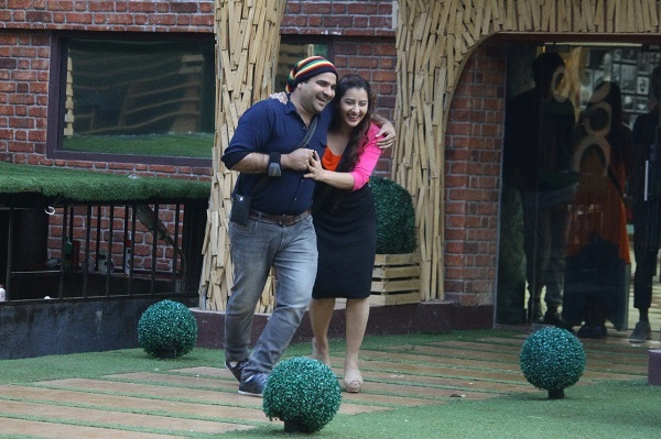 Shilpa Shinde with her brother in the house