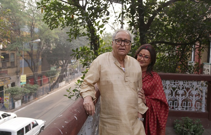 Soumitra Chatterjee, Aparna Sen (4)